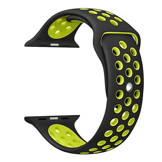 Aivtalk Sport Edition Band for Apple Watch 38mm 42mm, Soft Silicone Waterproof Strap Replacement Bands for iWatch Apple Watch | Watchbands
