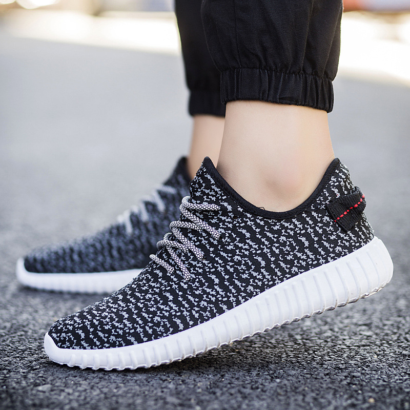 in spring of 2017 new men non-leather casual shoes fashion korean style breathable mesh net cloth light weight fabric flat heel