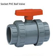 цена на DN15 Manual Socket UPVC Plastic Ball Valve,   Plastic  Thread PVC Ball Valve