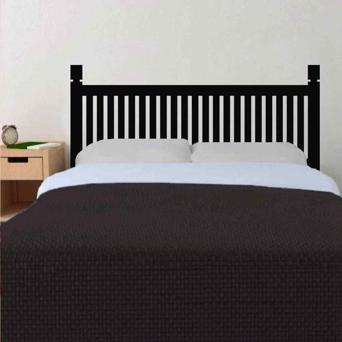 Traditional Headboard Wooden Style Bedpost Vinyl Wall