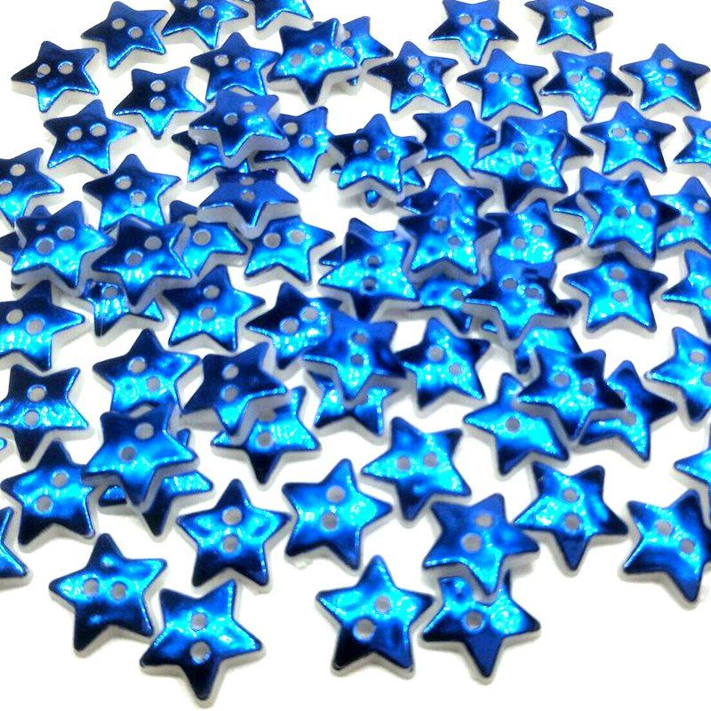 HL 50/100 قطعة 12 مللي متر نجمة 2 ثقوب أزرار بلاستيك الأطفال ملابس الخياطة اكسسوارات DIY سكرابوكينغ الحرف 4