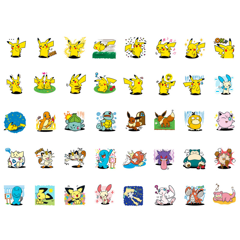 40pcs/set Cute Pokemon Go Pikachu Handmade Mini Calendar Album Agenda Scrapbook Stickers Stationery Back To School Supplies