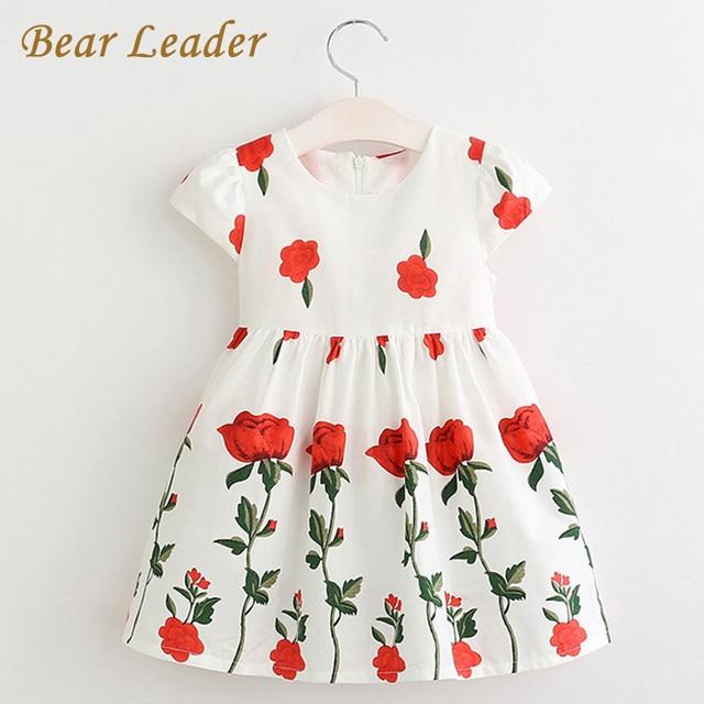 81956d69478 Bear Leader Girls Dress 2018 Spring Summer Style Brand Girls Clothes Rose  Flowers Design Dress for Kids
