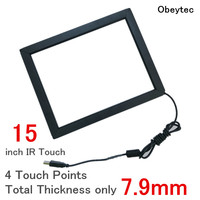 Obeytec 15 Infrared Touch Screen Kit, 4 points, Plug and play, For Industrial, Highly Stable, Highly compatible, Anti sunshine