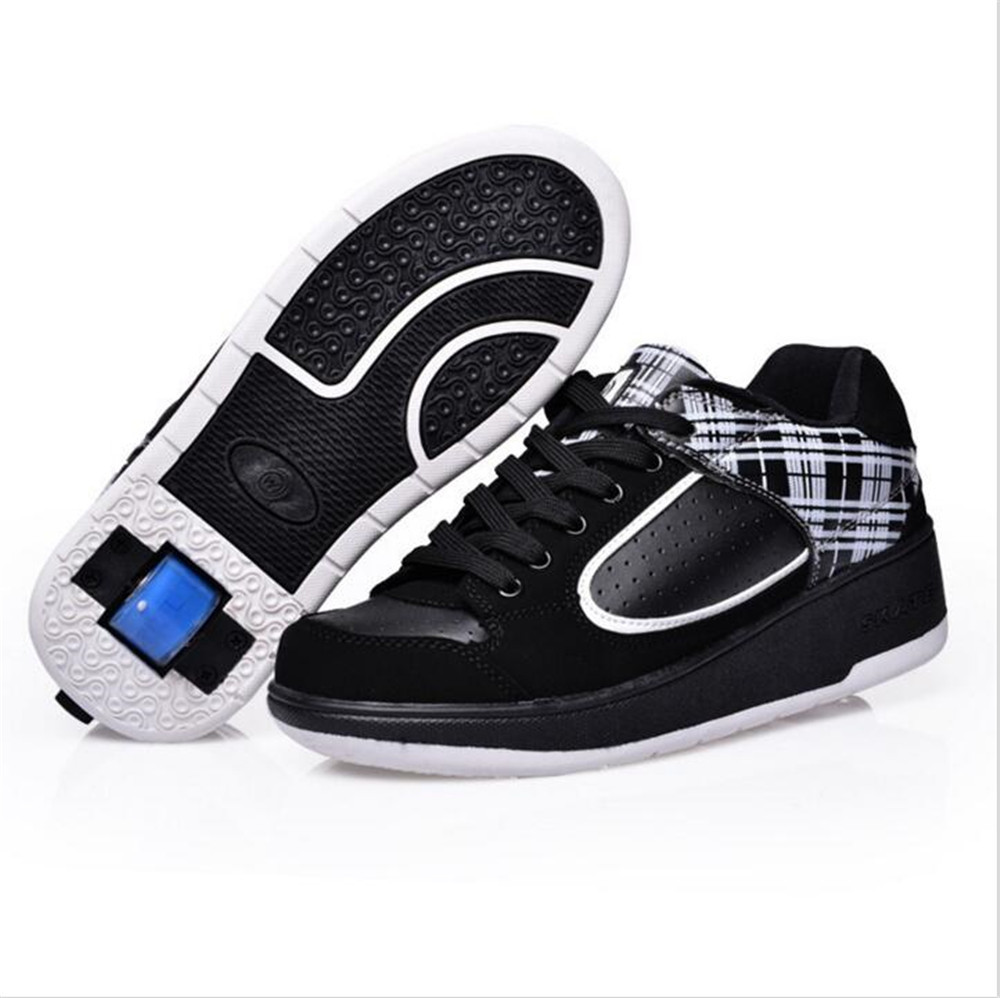 Roller shoes cheap - Ultra Light Adult Child Boy Girl Invisible Button Kid Skate Roller Shoes Children Sneakers With