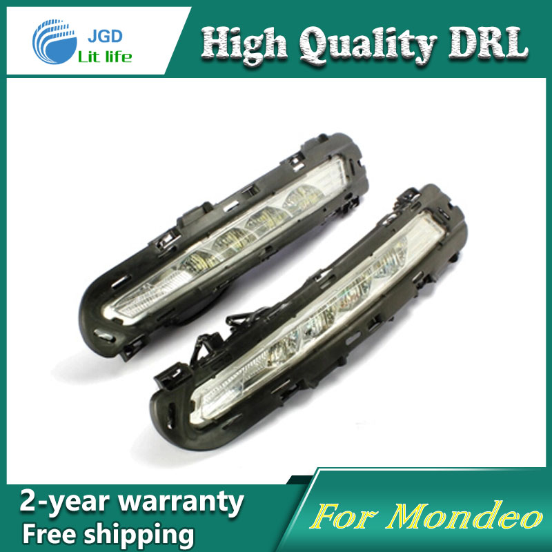 Free shipping !12V 6000k LED DRL Daytime running light case for Ford Mondeo 2010-2012 fog lamp frame Fog light Car styling недорого