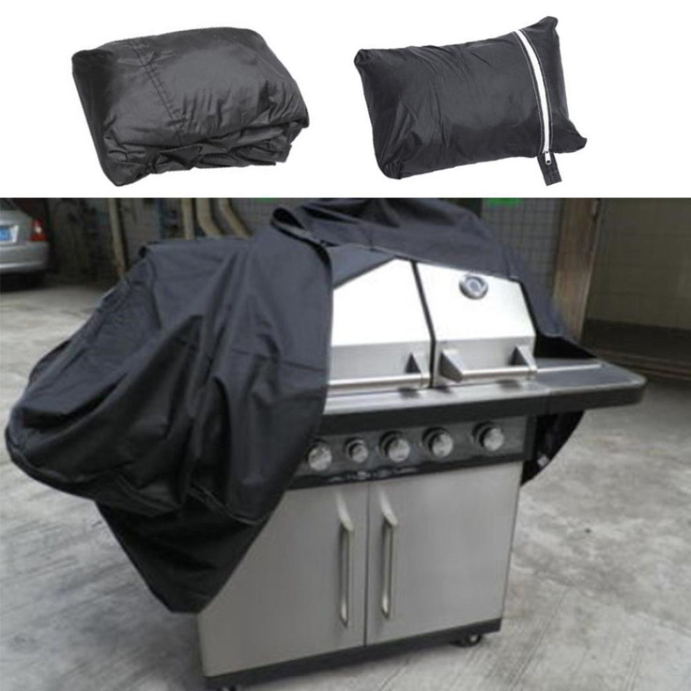 Extra Large Bbq Cover Heavy Duty Waterproof Rain Snow Barbeque Grill Protector 57 Gas Camping Black 190d Polyester #5s10 Good Taste Campcookingsupplies