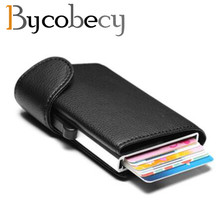 Bycobecy RFID Metal Wallet Antitheft Card Case Aluminium Credit  2019 New style Unisex Business Holder