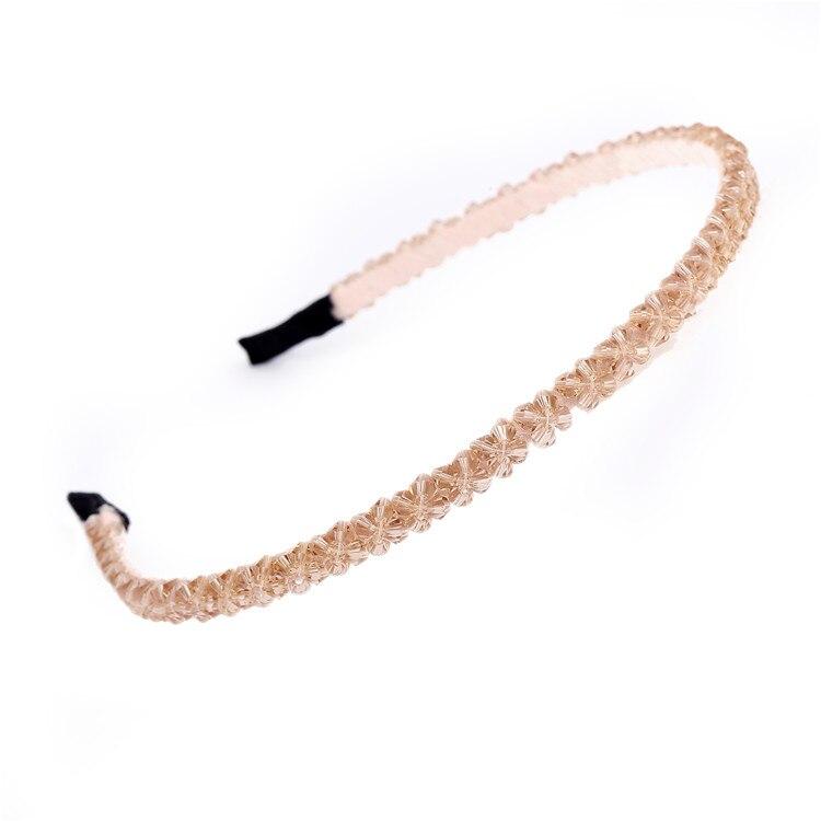 AWAYTR ободок для волос, украшенный кристаллами,, модный головной убор для девушек и женщин, аксессуары для волос ручной работы, головной убор, повязка на голову с жемчужным цветком - Цвет: as show