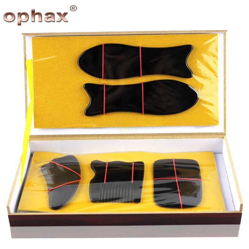5pcs Guasha Set Chinese Traditional Buffalo Horn Acupuncture GuaSha Massage Promoting Blood Circulation OPHAX Health Care Hot promoting social change in the arab gulf