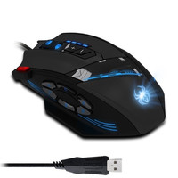 ZELOTES C12 Wired Gaming Mouse 4000DPI 12 Buttons Mouse LED Optical Professional USB Gaming Mouse For