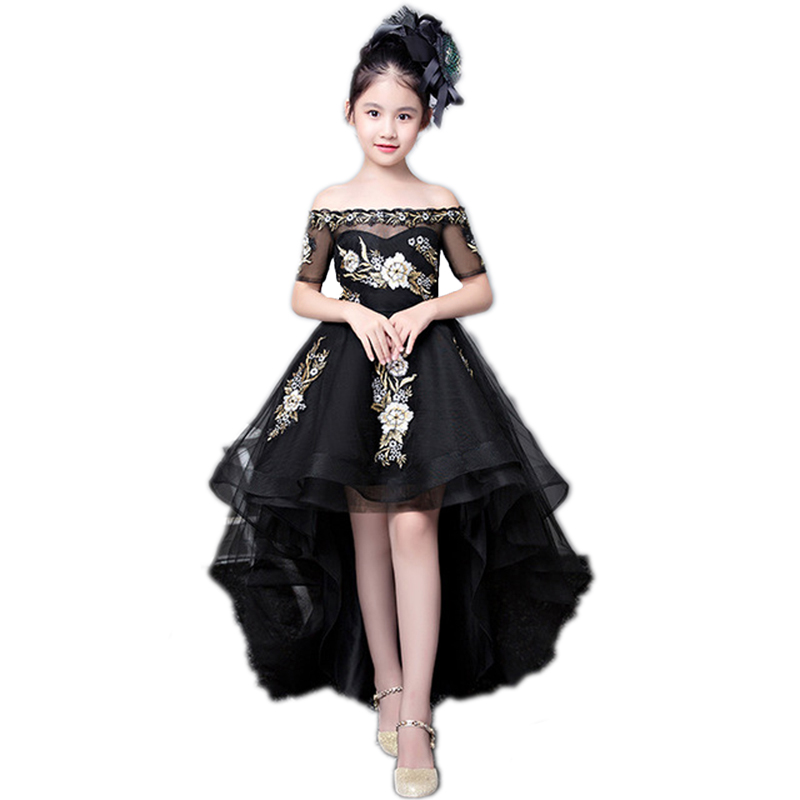 a982f4292 Children s Princess Dress for Little Girls Wedding Dresses Tailed ...