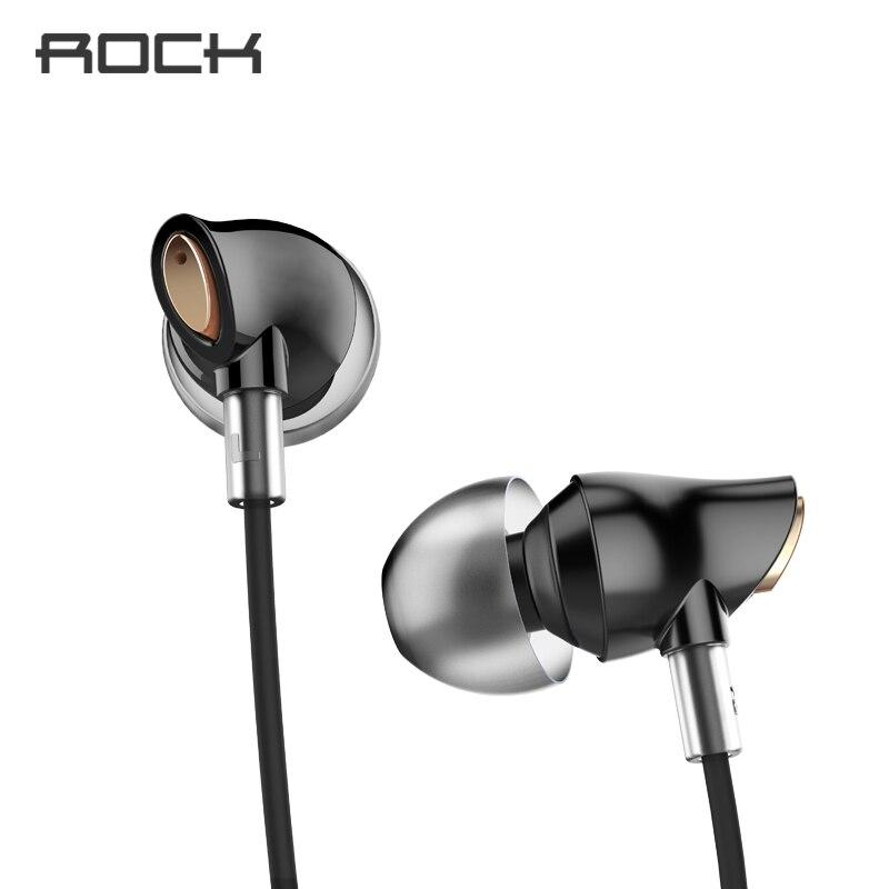 Auriculares estéreo Rock Zircon con en la oreja con Micro 3,5mm en auriculares bajos sumergibles equilibrados para iPhone para Xiaomi Huawei
