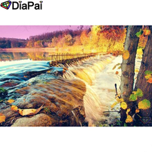 DIAPAI Diamond Painting 5D DIY 100% Full Square/Round Drill Tree waterfall Embroidery Cross Stitch 3D Decor A24253