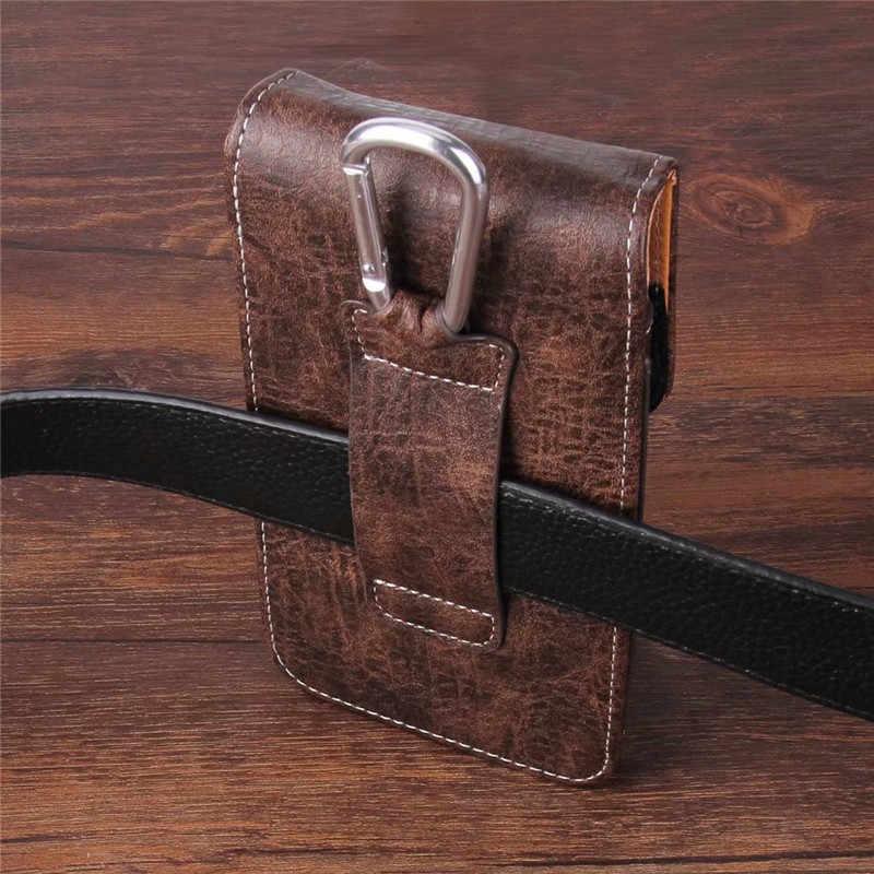 العالمي الهاتف الحقيبة جلد طبيعي حالة ل Blackview BV9000 BV5800 A20 برو A30 BQ Aquaris VS V X برو غطاء مع بطاقة جيب
