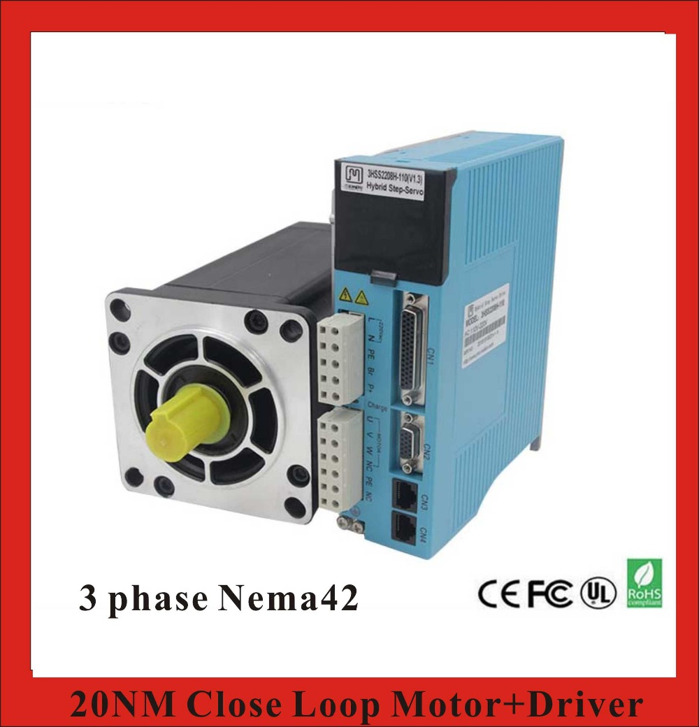 3 phase NEMA42 20NM Closed Loop Stepper Servo Motor Driver Kit for ...