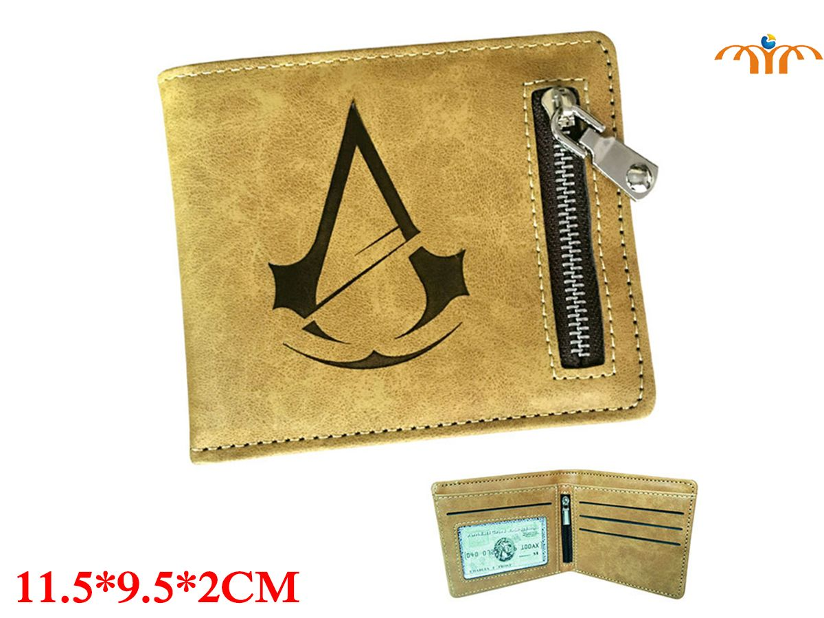 Assasin's Creed Game PU Leather Wallet Fashion Coin Pocket Card Holder Game Peripheral Product
