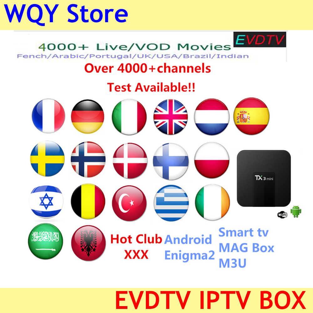 arabic iptv subscription for android tv box 5000 live vod channels