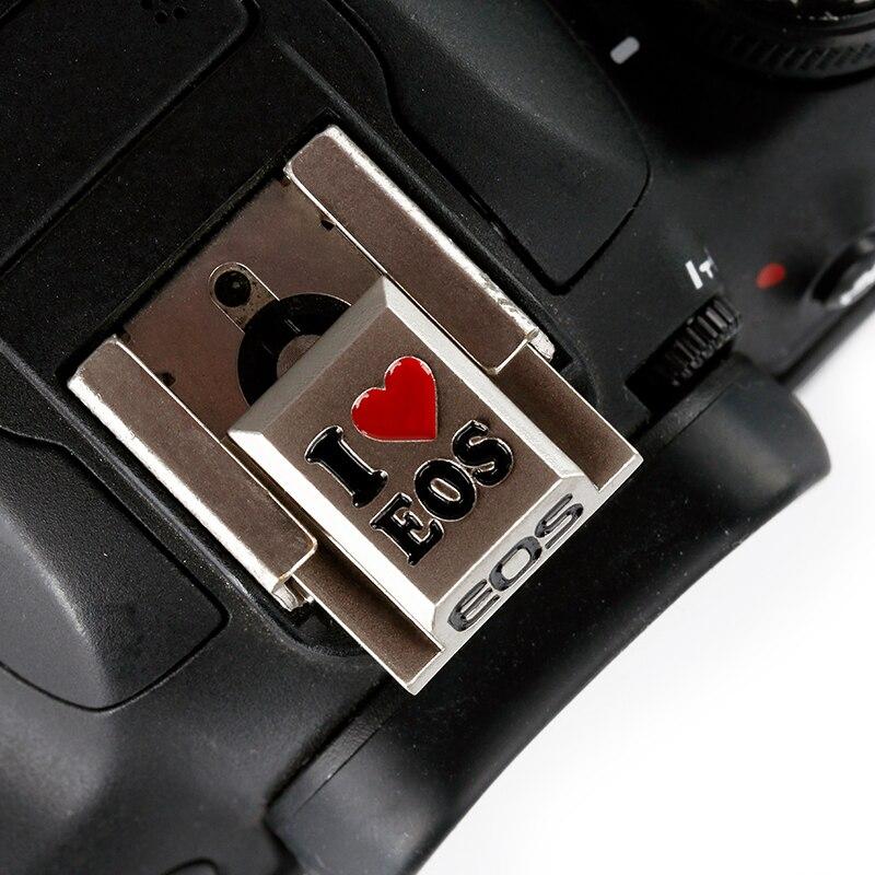 DSLR caméra Flash Hot couvre-chaussures remplacement pour Canon 700D EOS M3 Nikon Samsung Panasonic Olympus métal froid couvre-chaussures