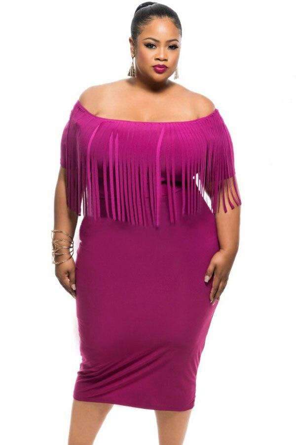 Bonito Vestidos De Cóctel Púrpura De Talla Grande Regalo - Ideas de ...