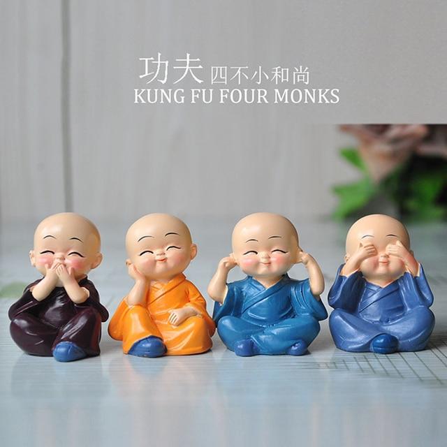 Kung fu cuatro joven monje buda art culos divertidos act an el papel ofing coche cadena de - Figuras buda decoracion ...