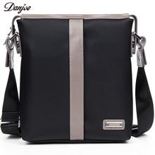 Danjue Для мужчин сумка Марка Водонепроницаемый Оксфорд Сумки через плечо мужской высокой плотности небольшой Повседневное Для мужчин сумка вертикальная Для мужчин сумка