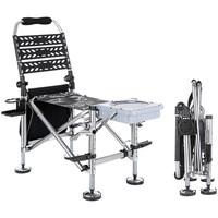 Outdoor Chair Fishing Chair Kamp Sandalyesi Folding Camping Chairs with Backpack Sila Plegable Fishing Tool Fish Equipments