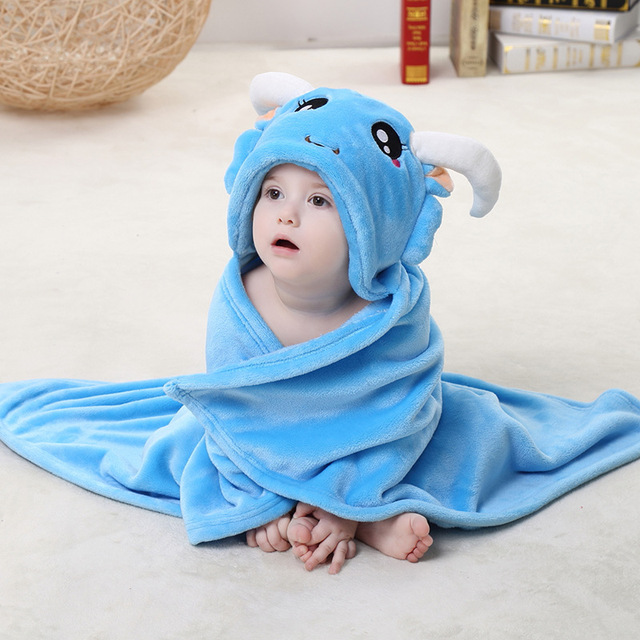 Горячая распродажа мода полотенце животных ребенок фланель милый ребенок халат