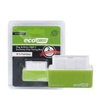EcoOBD2 Gasolina Coches Chip Tuning Box Plug and eco unidad obd2 OBD2 (unidad de Nitro) Chip Tuning Caja Menor de Combustible y Menos Emisiones