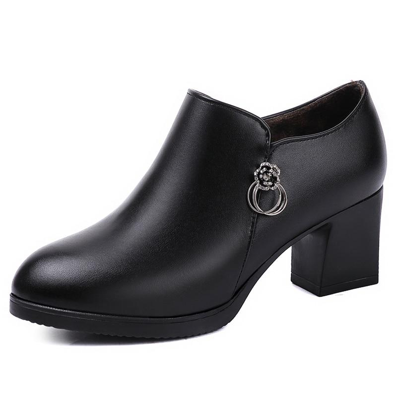 Mujer Clásico Cuero Fino Alto De red Vestido Zapatos Black Moda Terciopelo Tacón YAqwn4