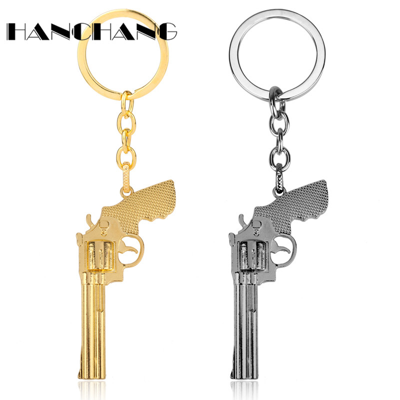 Personalized Men Jewelry <font><b>CS</b></font> Game <font><b>Keychain</b></font> Weapons Gun Pendant Key Holder Male Metal Key Chain Trinket Chaveiro Accessories image