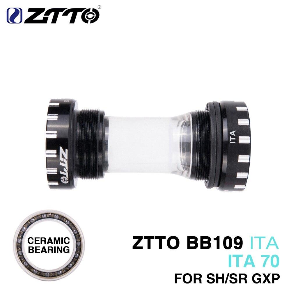 ZTTO CERAMIC Bearing BB109 ITA70 ITA 70 MTB Road Bike External Bearing Bottom Brackets For Parts 24mm BB 22mm GXP Crankset