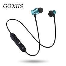 GOXIIS Bluetooth Cuffia Senza Fili Sport Correre Magnete Stereo Auricolare  Auricolari Con Microfono Per iPhone Xiaomi b0e8e0ad3302