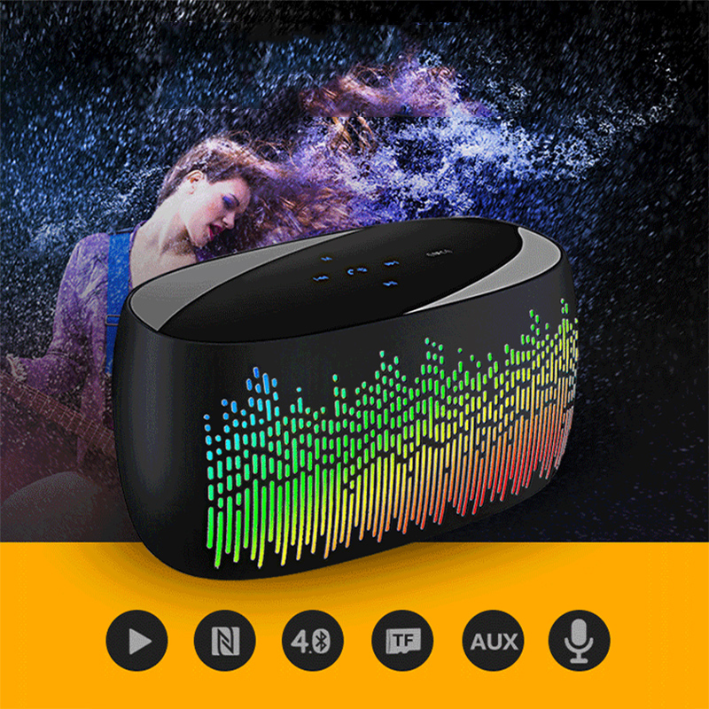 11 LED Desktop Bluetooth Speaker Mini Speakers Hands Free Portable Wireless Speaker With TF Card Mic USB Audio Music Player getihu portable mini bluetooth speakers wireless hands free led speaker tf usb fm sound music for iphone x samsung mobile phone