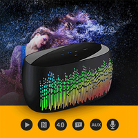 11 LED Desktop Bluetooth Speaker Mini Speakers Hands Free Portable Wireless Speaker With TF Card Mic USB Audio Music Player