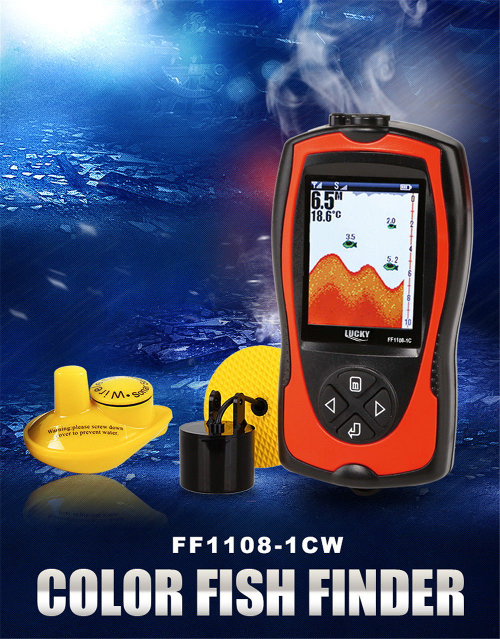 popular depth finder transducer-buy cheap depth finder transducer, Fish Finder