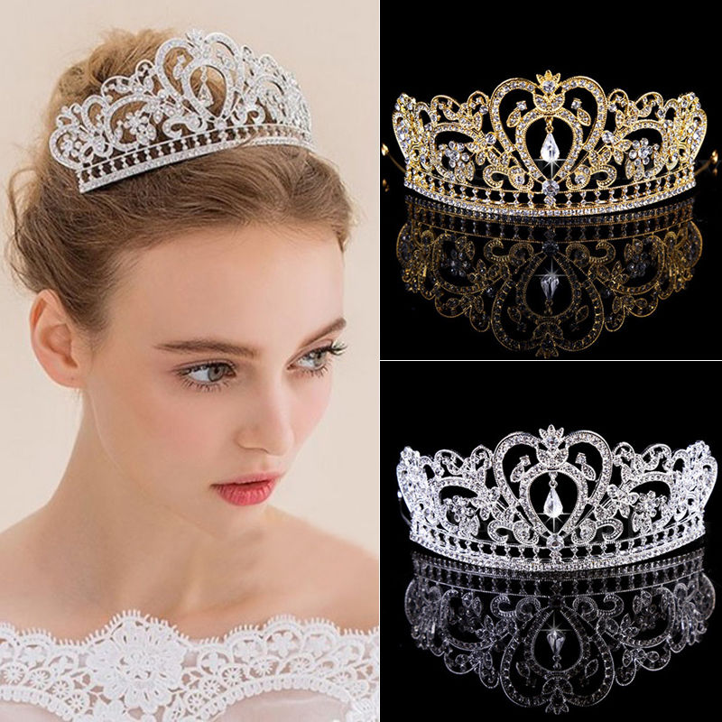 купить Badinka 2017 Hot Sale Chic Women Hair Tiaras Luxury Rhinestone Crystal Wedding Bride Headband Head Piece Hair Band Accessories в интернет-магазине