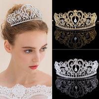 2017 Hot Sale Chic Women Hair Tiaras Luxury Rhinestone Crystal Wedding Bride Headband Head Piece Hair