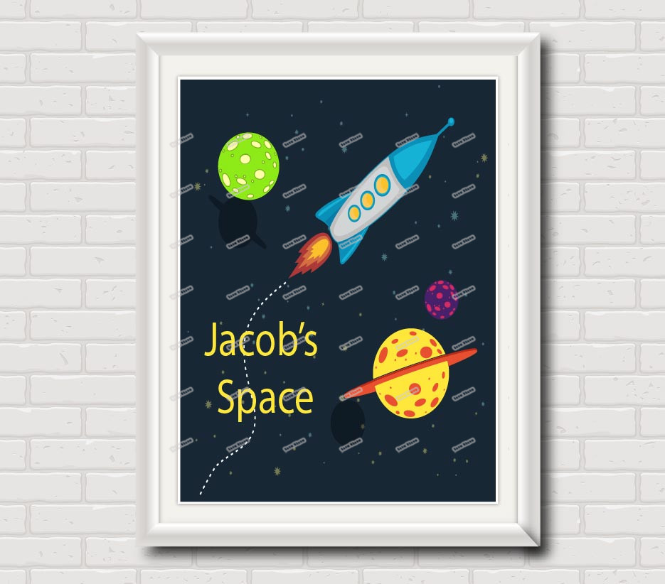 Buy outer space rocket ship canvas for Outer space poster design