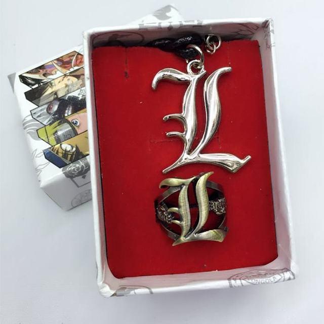 Death Note Zinc Alloy Necklace & Ring Set