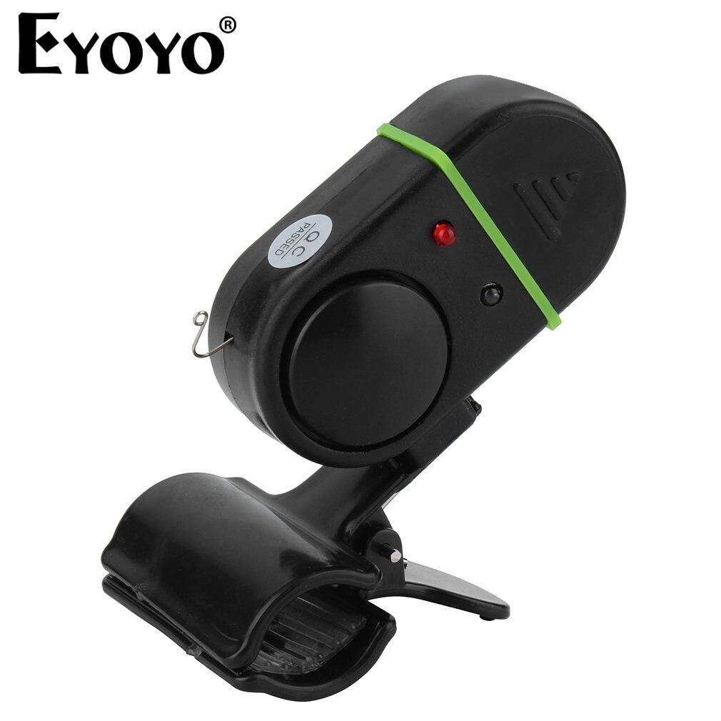 EYOYO Electronic LED Light Fish Bite Sound Alarm Bell Clip On Fishing Rod New