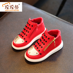Fashion Children Flats Breathable Zip Kids Casual shoes Spring/Autumn BoyLeather Sneakers for Girls Princess Shoes Patins Roller