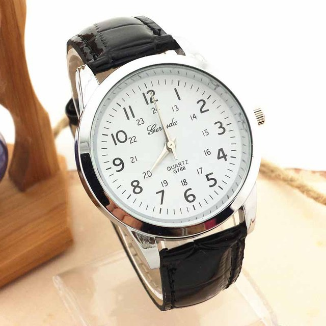 db67a42a1c26 Hours Reloj Mujer Hot Sale 2016 Elegant Analog Sports PU Leather Strap  Quartz Mens Wrist Watch top luxury brand mens watchs