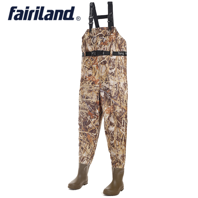 All in one chest Fishing waders with wading pants wading boots adjustable shoulder strap lure fishing gear bootfoot wader