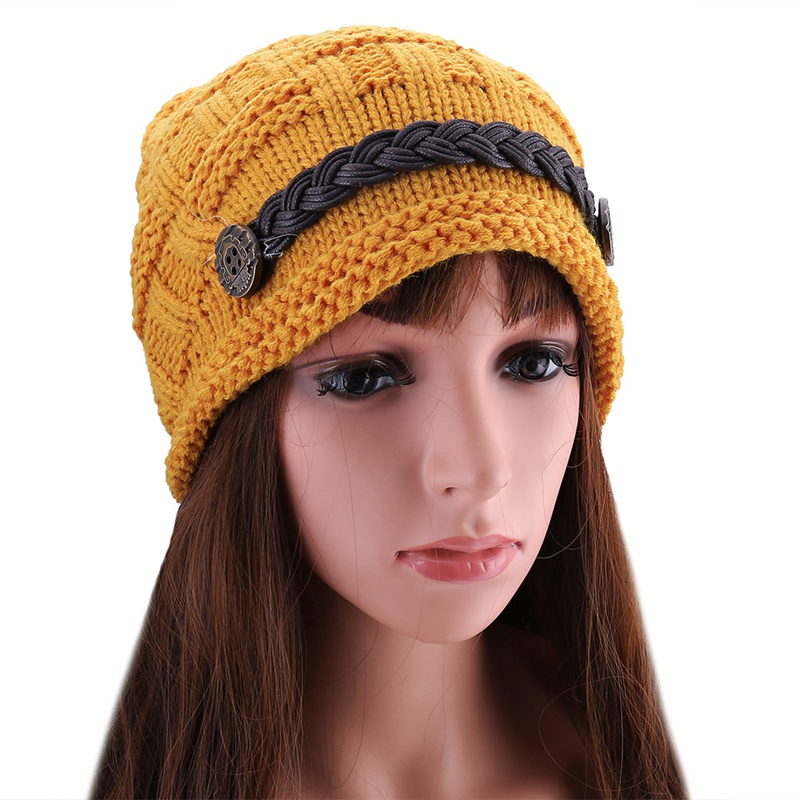 1pcs Hot Sale Woman Hat Female Knitted Crochet Casual Cap Beanies For Women Solid Color Warm Caps Skullies Bonnet Price Remains Stable