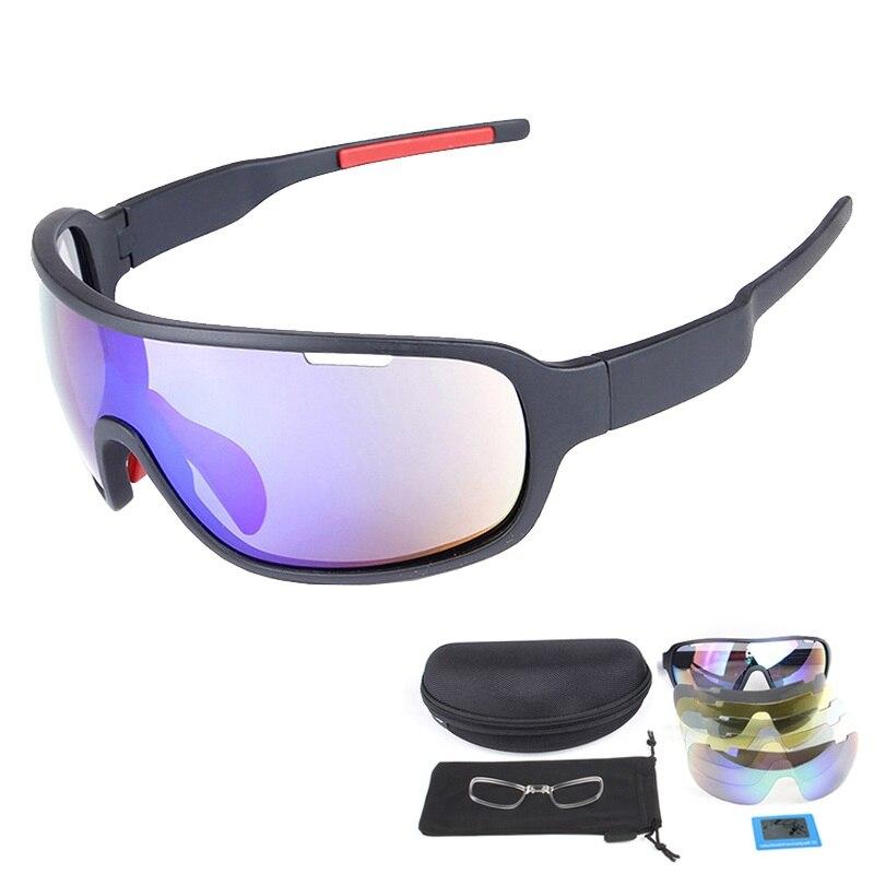 Prix pour Super COOL Polarisées Sport Lunettes de Ski Lunettes pour Moto Snowboard Lunettes De Pêche Hommes UV400 lunettes de Soleil Googles Cas + 4 Lentille