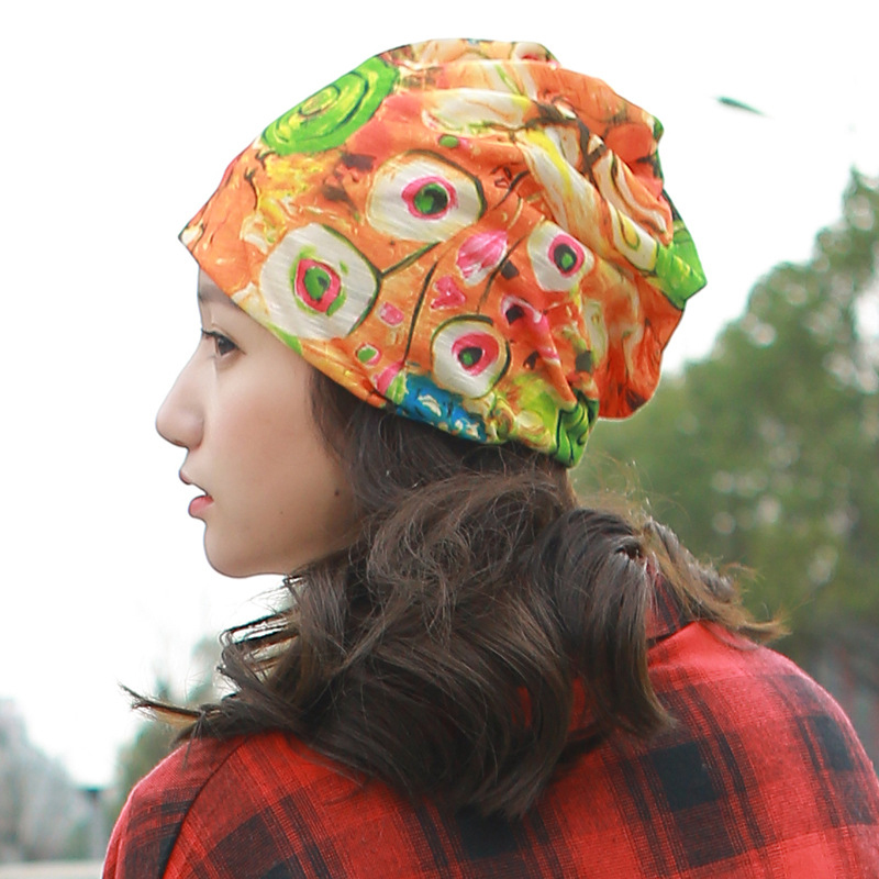 Helisopus 2019 New Styles Women's Summer Floral Printed Winter   Beanies   Hat Lady's Fashionable Chemotherapy Cap Scarves