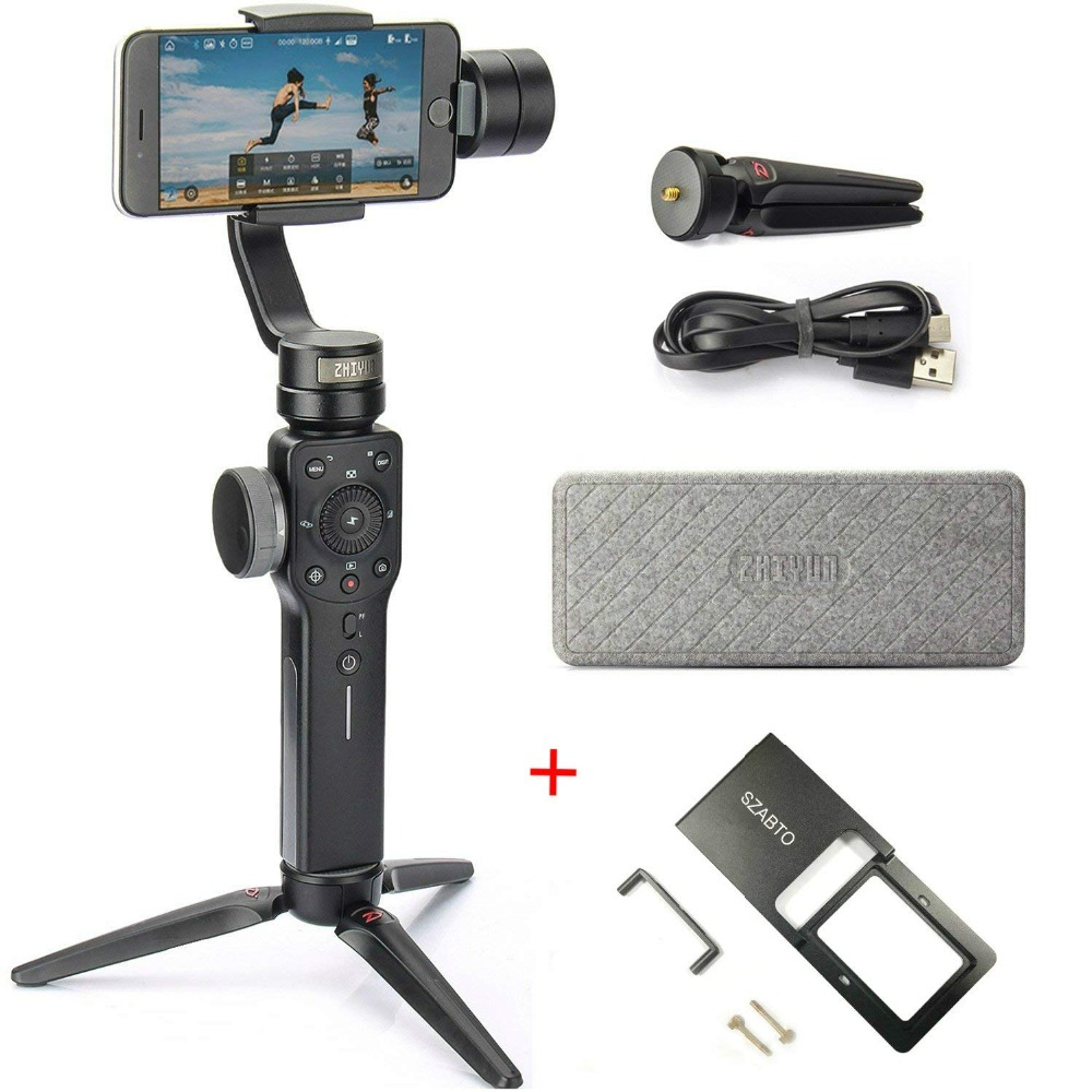 Zhiyun Smooth 4 3-Axis Handheld Gimbal Stabilizer for Smartphone (with Tripod)