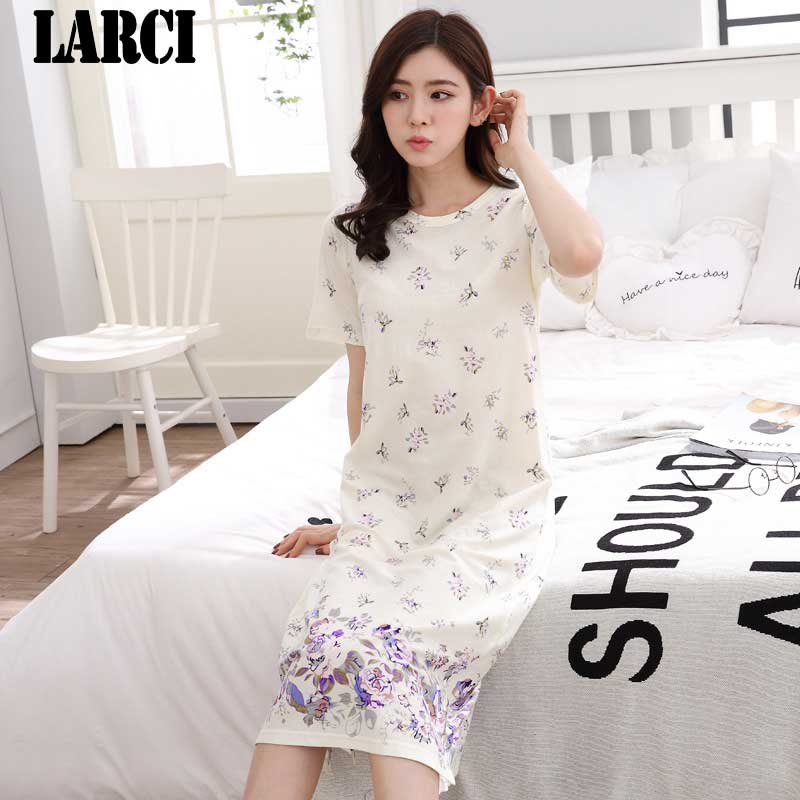 Detail Feedback Questions about LARCI Womens nightgowns new cotton nightwear  summer dress casual loose nightdress female night shirt women sleepwear  sleeps ... a92d8946a