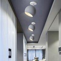北欧スタイル通路天井ランプクリエイティブ錬鉄製 5 色寝室ランプ研究バルコニーポーチ天井ライト mx4221013